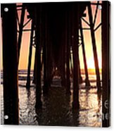 Oceanside Pier Tunnel Acrylic Print