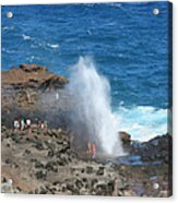 Ocean Blowhole In Maui Acrylic Print