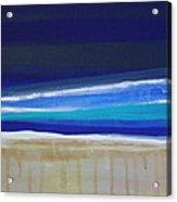 Ocean Blue Acrylic Print by Linda Woods