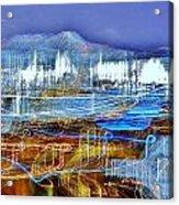 Ocean City Maryland At Night - Blue Acrylic Print