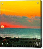 Ocean City Sunrise Over Music Pier Acrylic Print