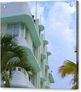 Ocean Drive Hotel Acrylic Print