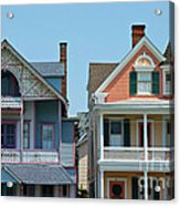 Ocean Grove Gingerbread Homes Acrylic Print by Anna Lisa Yoder