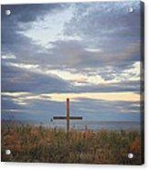 Ocean Grove Nj Beach Cross Acrylic Print