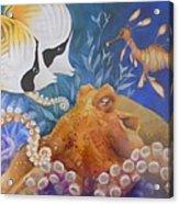 Ocean Hang Out Acrylic Print by Summer Celeste