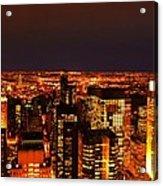 Ocean Of Light New York City Usa Acrylic Print