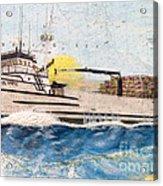 Ocean Olympic King Crab Fishing Boat Nautical Chart Map Art Acrylic Print