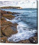Ocean On The Rocks Acrylic Print