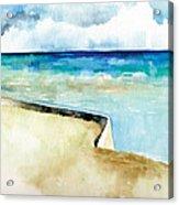 Ocean Pier In Key West Florida Acrylic Print