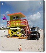 Ocean Rescue Miami Acrylic Print