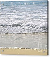 Ocean Shore With Sparkling Waves Acrylic Print