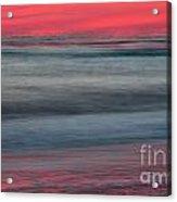 Ocean Smear Acrylic Print by Janet Moss