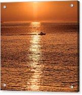 Ocean Sunrise At Montauk Point Acrylic Print