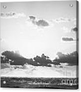 Ocean Sunrise Black And White Acrylic Print