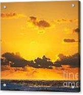 Ocean Sunrise Clouds Acrylic Print