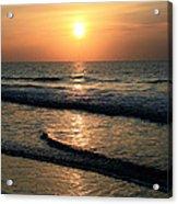 Ocean Sunrise Over Myrtle Beach Acrylic Print