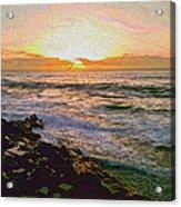 Ocean Sunset In San Diego Acrylic Print