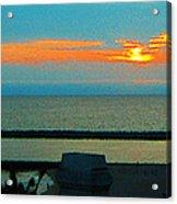 Ocean Sunset With Birds Acrylic Print