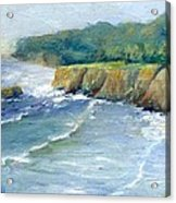 Ocean Surf Colorful Original Seascape Painting Acrylic Print
