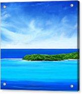 Ocean Tropical Island Acrylic Print