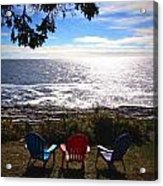 Ocean View At Pemaquid Point Maine Acrylic Print