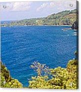 Ocean View From The Road To Hana, Maui Acrylic Print