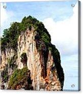 Ocean Wall- Phi Phi Island - Krabi Thailand- Viator's Agonism Acrylic Print