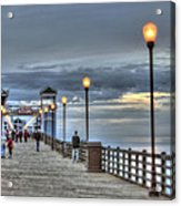 Oceanside Pier At Sunset Acrylic Print