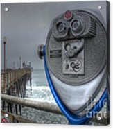 Oceanside Pier California Binocular Vision Acrylic Print by Bob Christopher