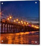 Oceanside Pier Evening Acrylic Print