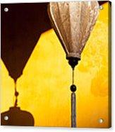Ochre Wall Silk Lanterns  Acrylic Print