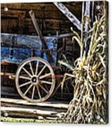 October Barn Acrylic Print
