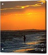 October Fishing Acrylic Print
