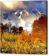 October In Grand Tetons Acrylic Print