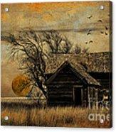 October Moon Acrylic Print
