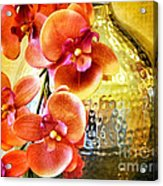 October's Orchids Acrylic Print