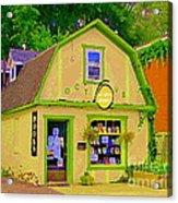 Octopus Bookstore 3rd Ave Bank Street Nepean The Glebe Paintings Of Ottawa Carole Spandau  Acrylic Print