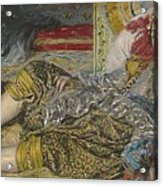 Odalisque Acrylic Print by Pierre Auguste Renoir