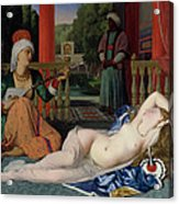 Odalisque With Slave Acrylic Print by Ingres