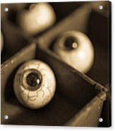 Oddities Fake Eyeballs Acrylic Print by Edward Fielding