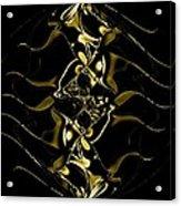 Of Golden Waves Acrylic Print