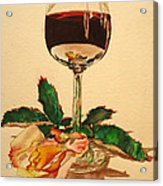 Of Wine And Roses Acrylic Print