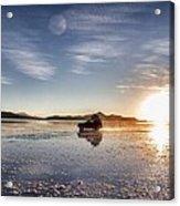 Off Road Uyuni Salt Flat Tour Dramatic Acrylic Print