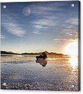 Off Road Uyuni Salt Flat Tour Select Focus Acrylic Print