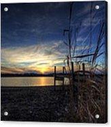 Off Season Sunset At The Lake Acrylic Print
