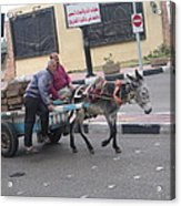 Off To Market In Port Said Egypt Acrylic Print