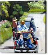 Off To The Vineyards Acrylic Print
