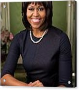 Official Portrait Of First Lady Michelle Obama Acrylic Print