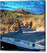 Offroad Driving View From Inside The Car Acrylic Print