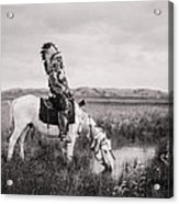 Oglala Indian Man circa 1905 Acrylic Print